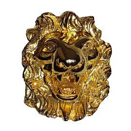 Judith Leiber 18K Gold Plated Lion Pin Brooch/Pendant