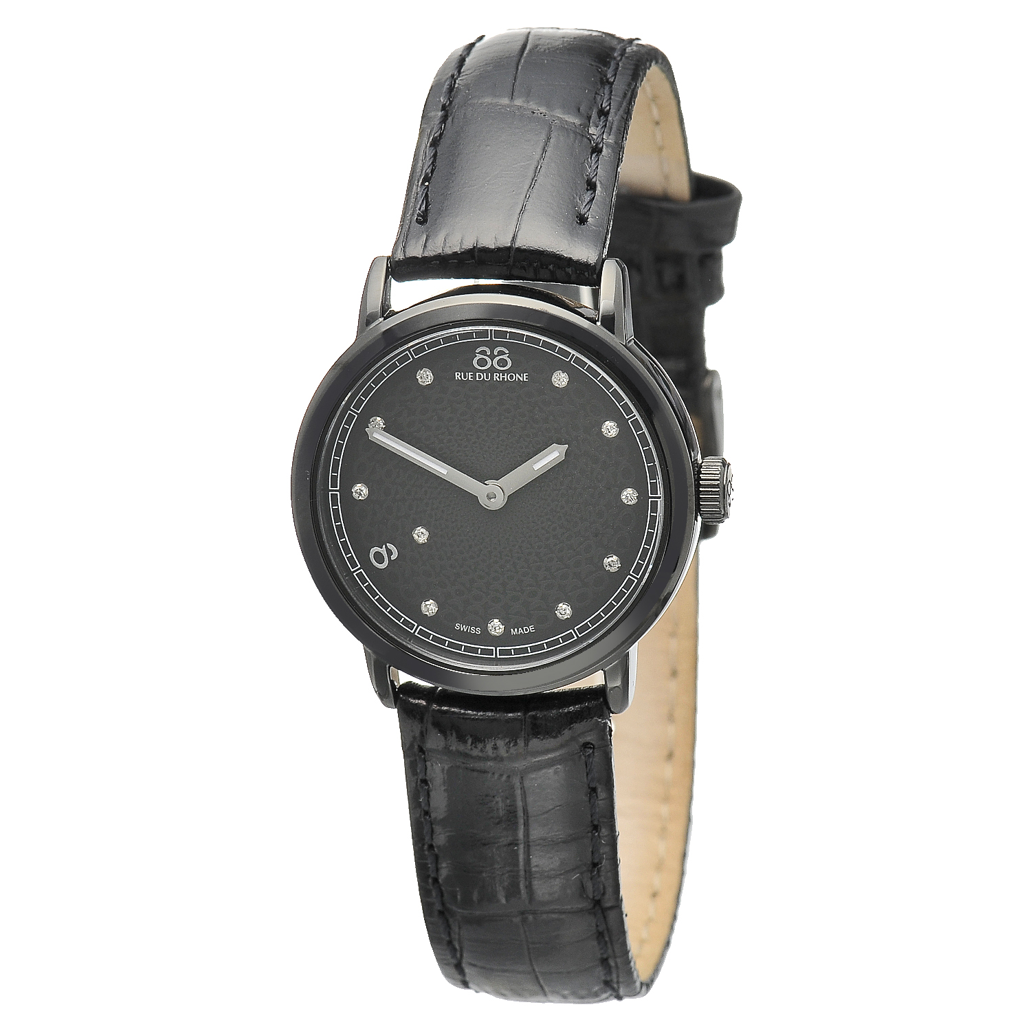 "Image of ""Rue Du Rhone Black Dial 87Wa120001 Watch"""
