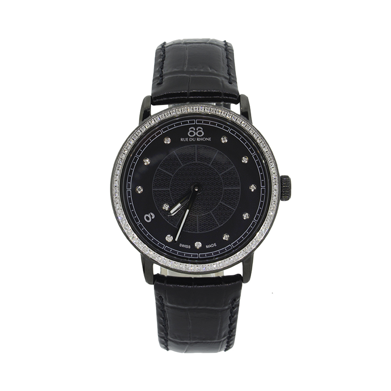 "Image of ""Rue Du Rhone Black Dial 87Wa120010 Watch"""