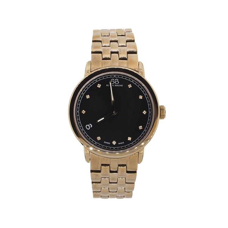 "Image of ""Rue Du Rhone Black Dial 87Wa120017 Watch"""