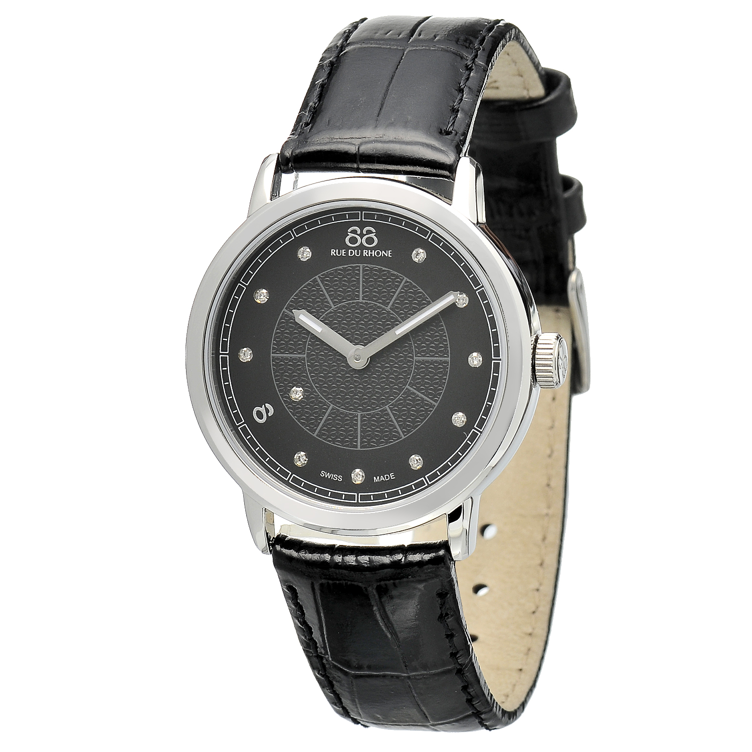 "Image of ""Rue Du Rhone Black Dial 87Wa120020 Watch"""