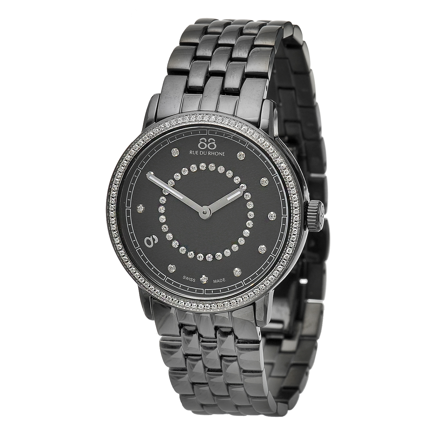 "Image of ""Rue Du Rhone Black Dial 87Wa120023 Watch"""
