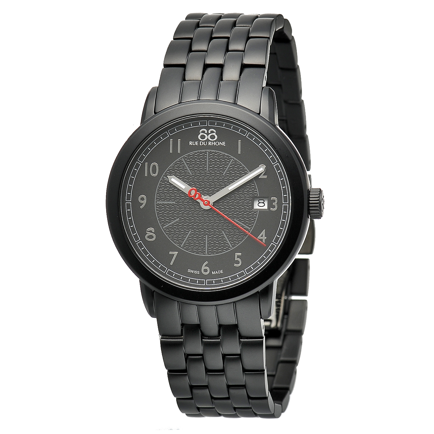 "Image of ""Rue Du Rhone Black Dial 87Wa120025 Watch"""