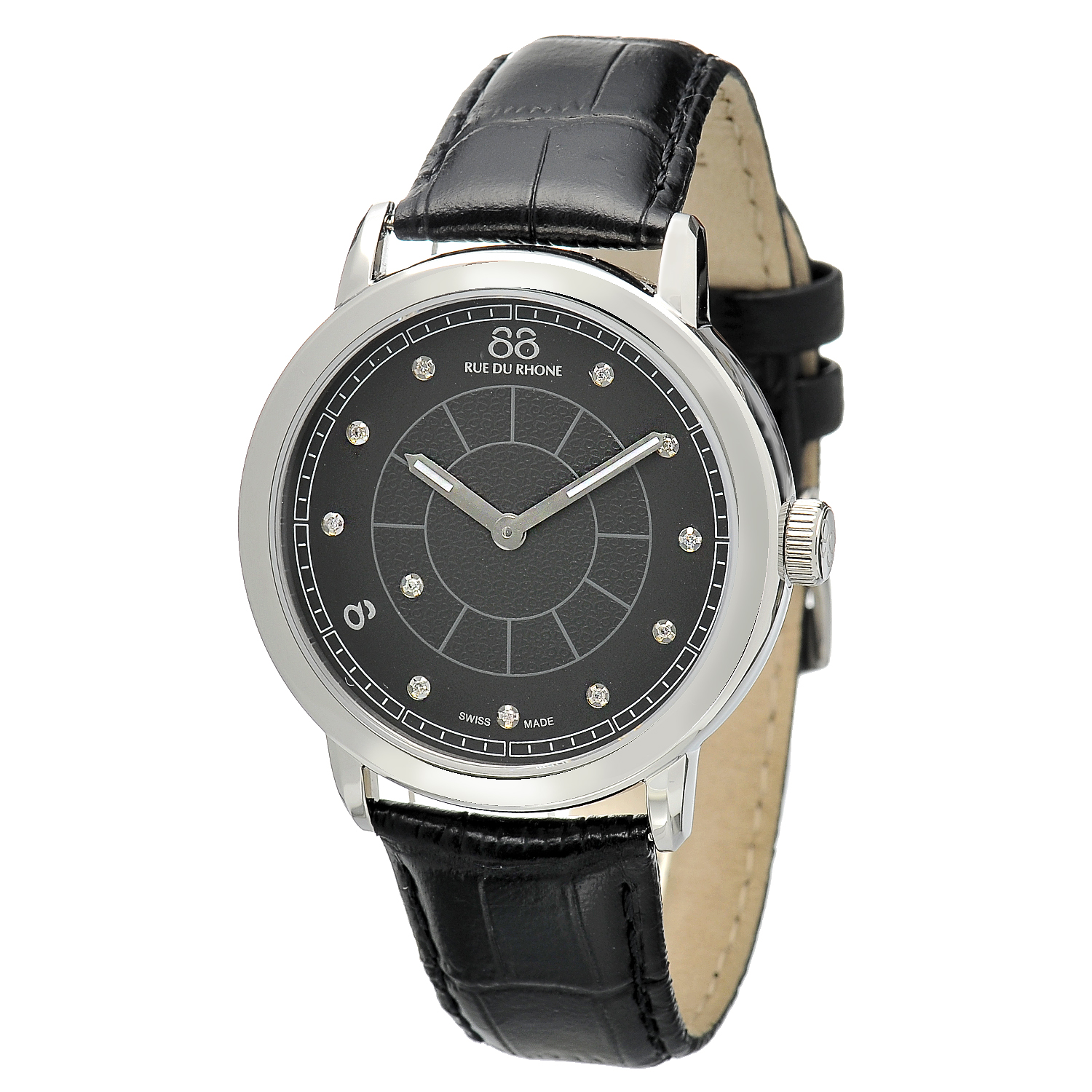 "Image of ""Rue Du Rhone Black Dial 87Wa120026 Watch"""