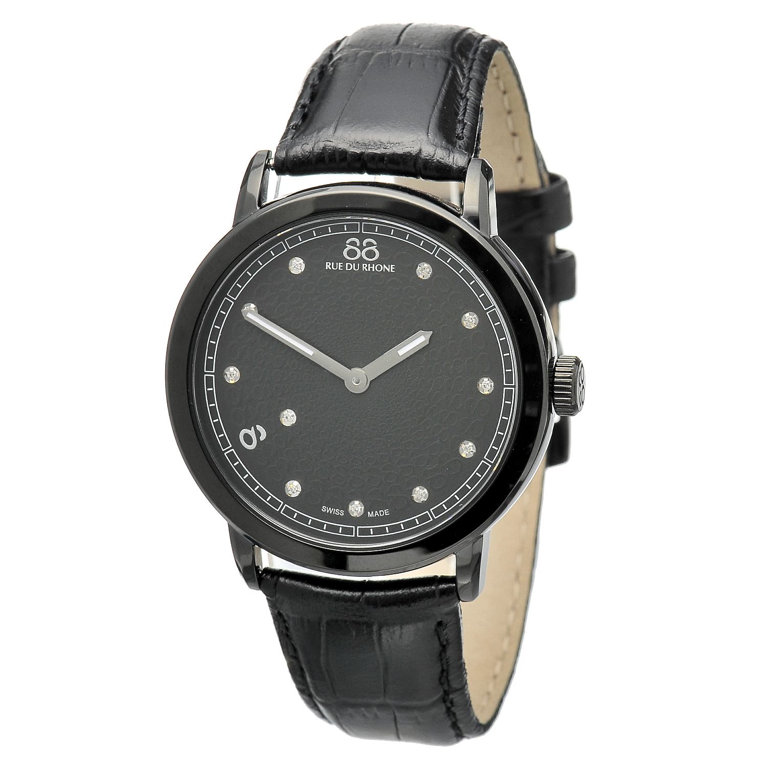 "Image of ""Rue Du Rhone Black Dial 87Wa120029 Watch"""