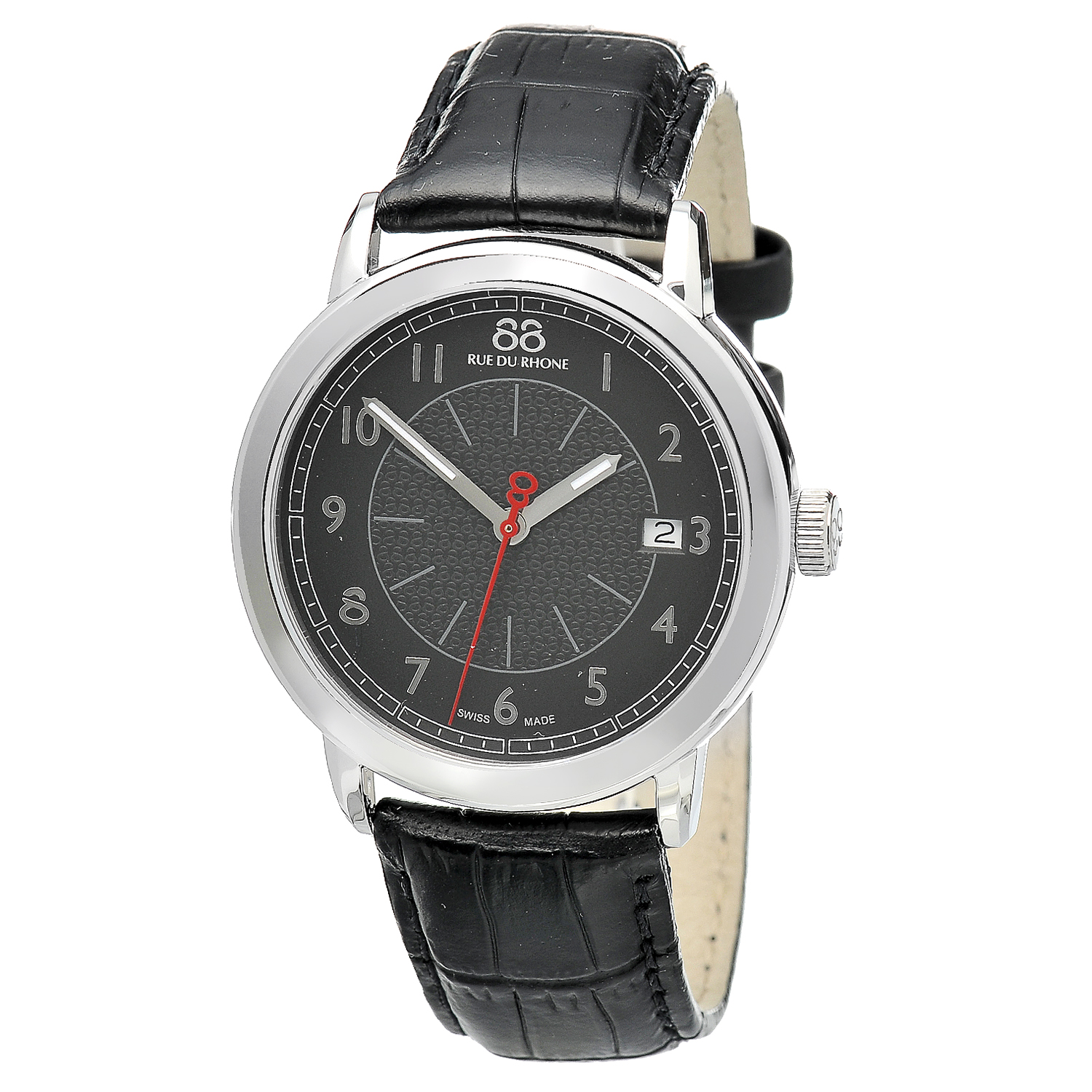 "Image of ""Rue Du Rhone Black Dial 87Wa120030 Watch"""