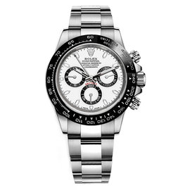 Rolex Cosmograph Daytona 116500LN Stainless Steel & White Dial 40mm Mens Watch