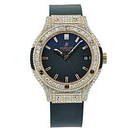 Hublot Classic Fusion Rose Gold Full Diamond 38mm Watch