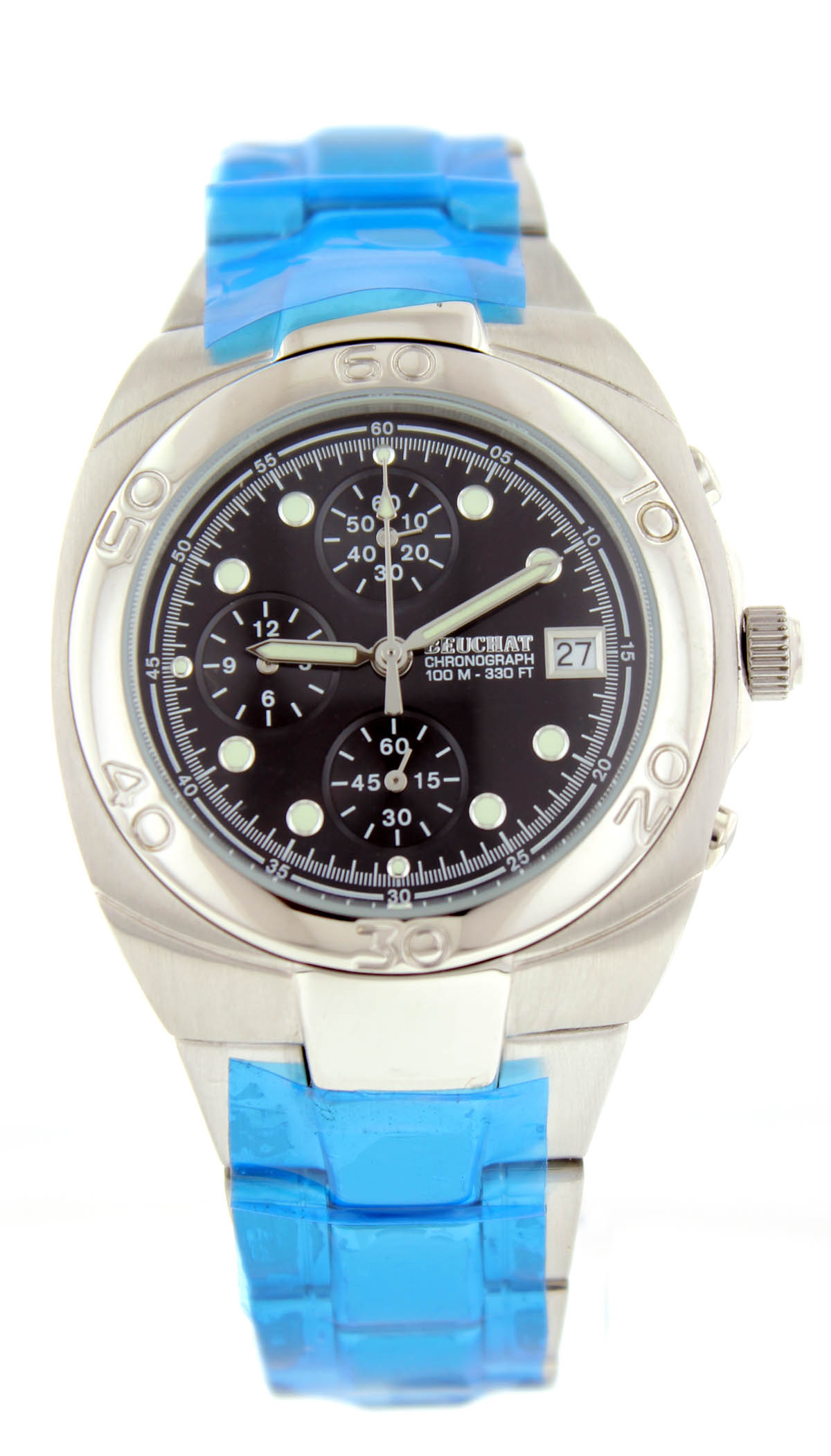 """Image of """"Beuchat Skyteam Beu0370 Stainless Steel Chronograph Mens Watch"""""""