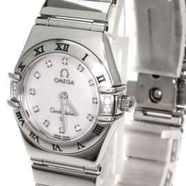 Omega Constellation 1566.76 Stainless Steel with 12P Diamond 23mm Womens Watch