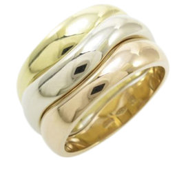 Cartier 18K Yellow White and Pink Gold Love Me Ring Size 6