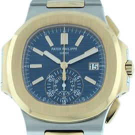 Patek Philippe Nautilus 18K Rose Gold & Stainless Steel 39mm x 44mm Watch