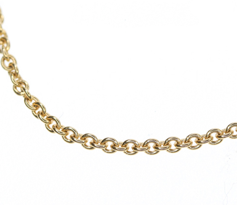 "Image of ""Bulgari 18K Pink Gold Chain Necklace"""