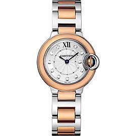 Cartier Ballon Bleu W3BB0005 Stainless Steel & 18K Pink Gold 28mm Womens Watch