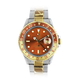 Rolex GMT-Master II Root Beer 16713 Stainless Steel & 18K Yellow Gold 40mm Mens Watch
