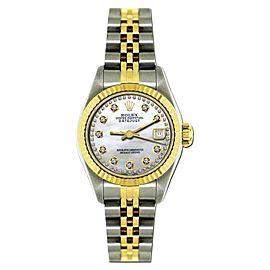 Rolex Datejust 18K Yellow Gold & Stainless Steel MOP & Diamond 26mm Watch