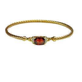 David Yurman 18K Yellow Gold Diamond Bracelet
