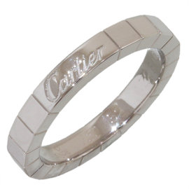 Cartier 18K White Gold Lanieres Wedding Band Ring Size 6