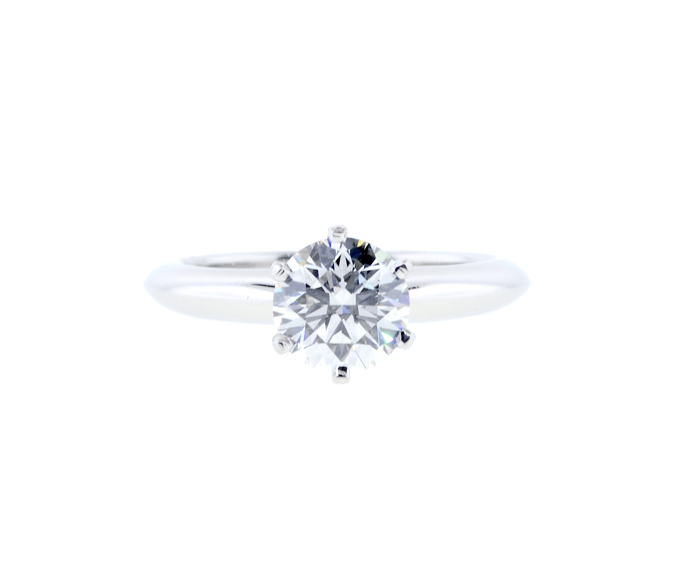 "Image of ""Tiffany & Co. Platinum 1.21 Ct Round Brilliant Diamond Engagement Ring"""