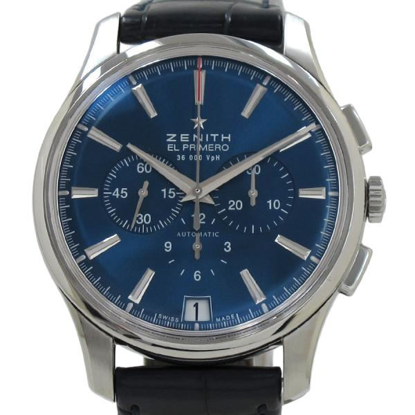 "Image of ""Zenith Captain Charle Vermo Tribute Stainless Steel / Leather"""