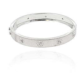 Buccellati Macri 18K White Gold & Diamond Bangle Bracelet