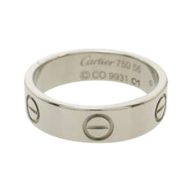 Cartier Love 18K White Gold Ring Size 7.5