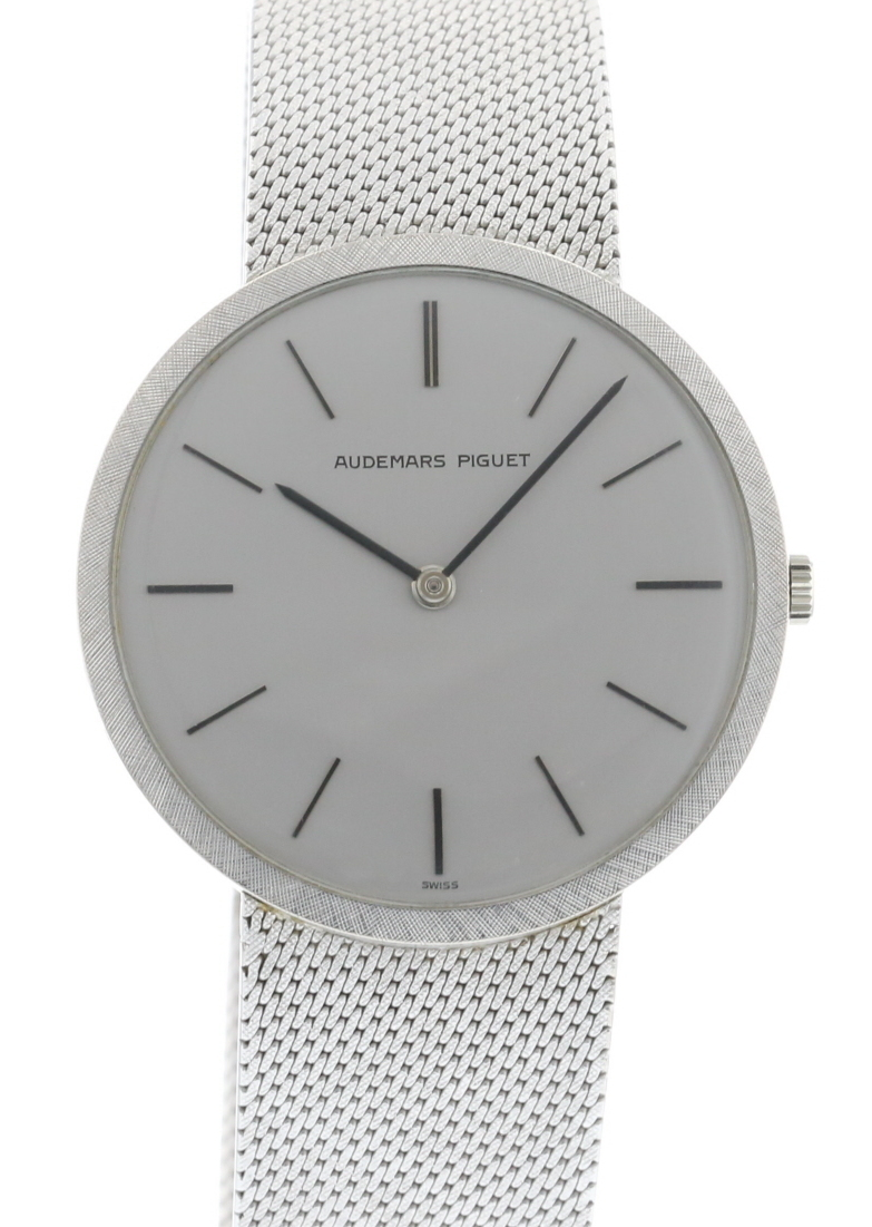"Image of ""Audemars Piguet 18K White Gold 1962 33mm Manual Mens Watch"""