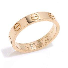 Cartier Mini Love 18K Pink Gold Ring