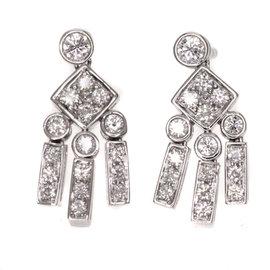 Tiffany & Co. PT950 Platinum Diamond Earrings