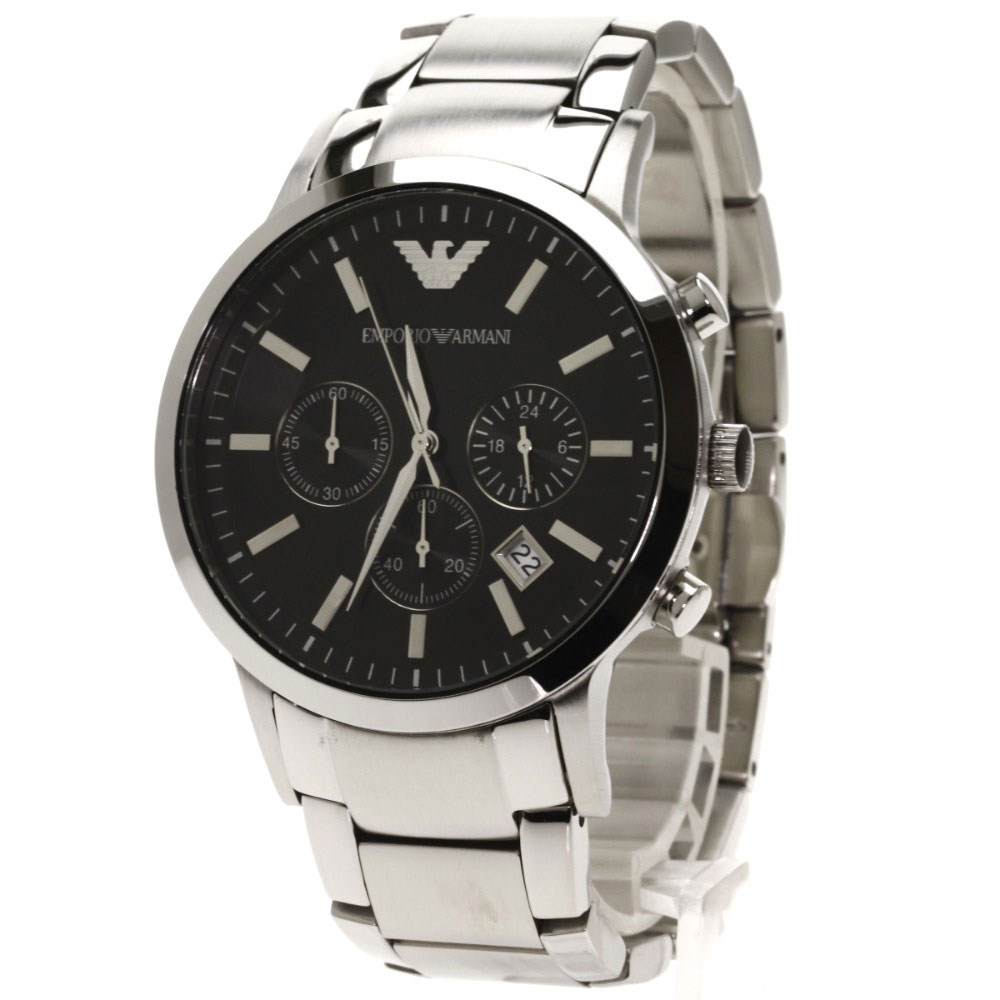 "Image of ""Emporio Armani Ar-2434 Stainless Steel Quartz 43mm Mens Watch"""