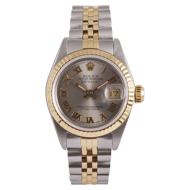 """Image of """"Rolex Datejust Stainless Steel & 18K Yellow Gold Silver Roman Dial"""""""