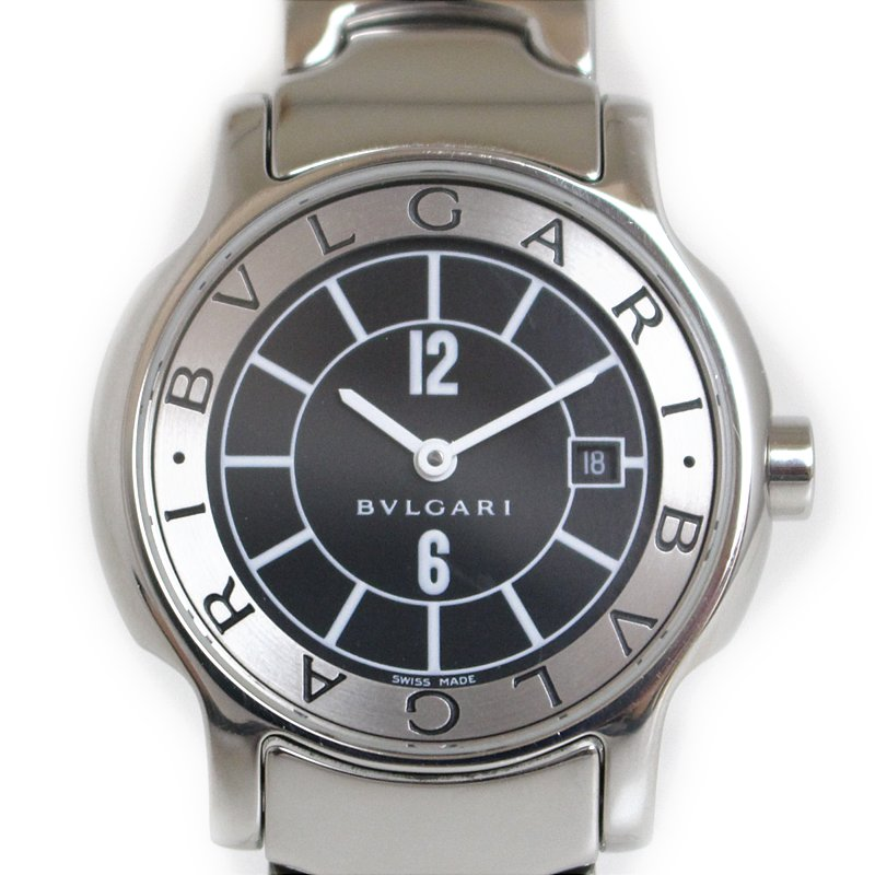 "Image of ""Bulgari Solotempo St29S Stainless Steel Quartz 25mm Womens Watch"""