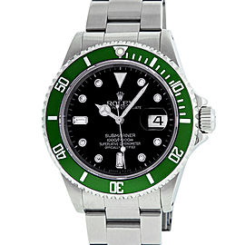 Rolex Submariner 16610 Stainless Steel and Diamond 40mm Mens Watch