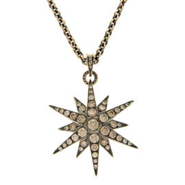 H. Stern 18K Yellow Gold & Champagne Diamonds Genesis Star Necklace