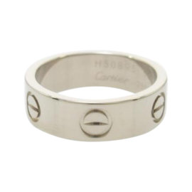 Cartier Love 750 White Gold Ring Size 5.25