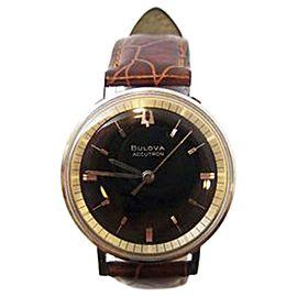 Bulova Accutron Stainless Steel Quartz Vintage 35.5mm Mens Watch Year 1965