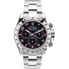 Rolex Stainless Steel Arabic Racing Daytona 116520 40mm Mens Watch
