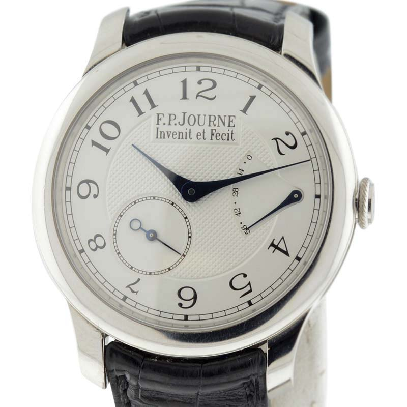 "Image of ""F.p. Journe Cs.pt.40 Platinum & Leather Silver Dial Manual 40mm Men's"""