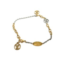 Louis Vuitton Rose, Gold and Silver Plated Bracelet