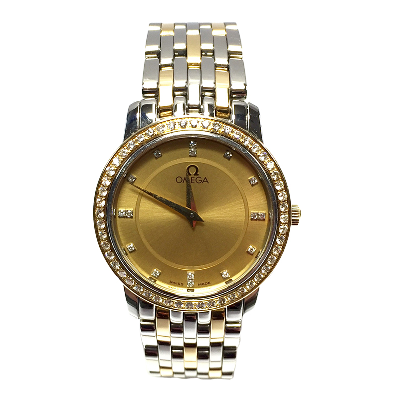 "Image of ""Omega Seamaster 18K Yellow Gold & Stainless Steel Diamond 27.50mm"""