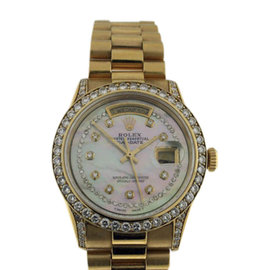 Rolex President Day/Date 18K Yellow Gold With Mother of Pearl Dial 36mm Mens Mens Watch