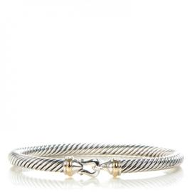 David Yurman Cable Classic Sterling Silver And 18K Yellow Gold Buckle Bracelet