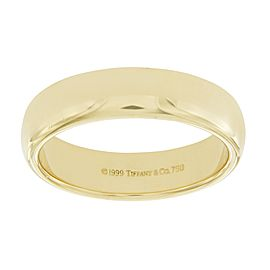 Tiffany & Co. 18K Yellow Gold Wedding Ring Size 11.25