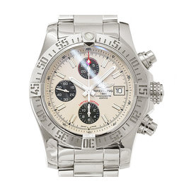 Breitling Aeromarine Super Avenger A13381 Stainless Steel Automatic 43mm Mens Watch