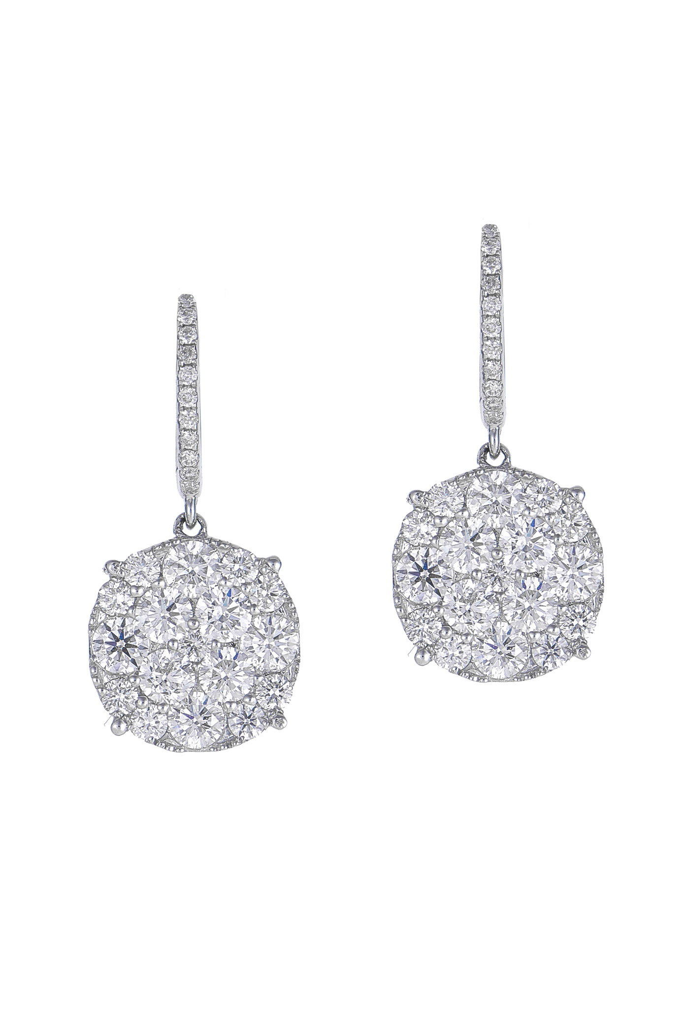 "Image of ""Aura Diamond Filled 18K White Gold Earrings"""