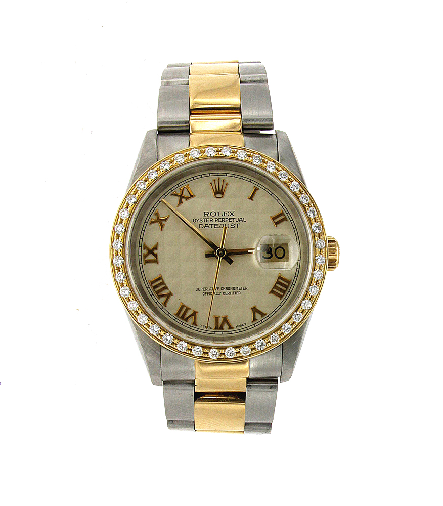 "Image of ""Stainless Steel and Yellow Gold Rolex Datejust"""