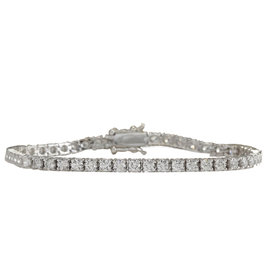 14K White Gold and 4.80ct Diamond Bracelet