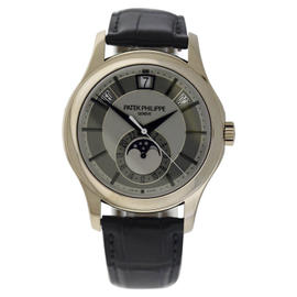 Patek Philippe 5205G Annual Calendar 18K White Gold 40mm Mens Watch