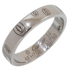 Cartier 18K White Gold Band Ring Size 6.75