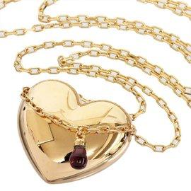 Boucheron 18K Rose Gold & Amethyst Heart Motif Pendant Necklace